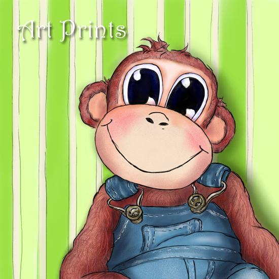 Hattifant's Art Prints - Charlie, the monkey