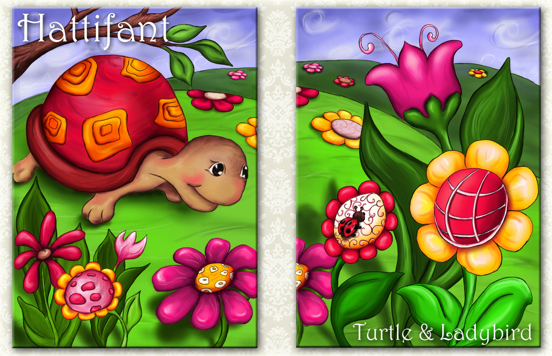 "New Digital Art Print NOW available: ""Turtle & Ladybird"""