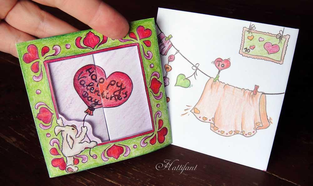 Hattifant - Valentine's Boxcard