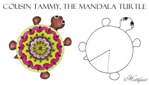 Hattifant Mandala Turtle Family colour color as a kidscraft Tammy