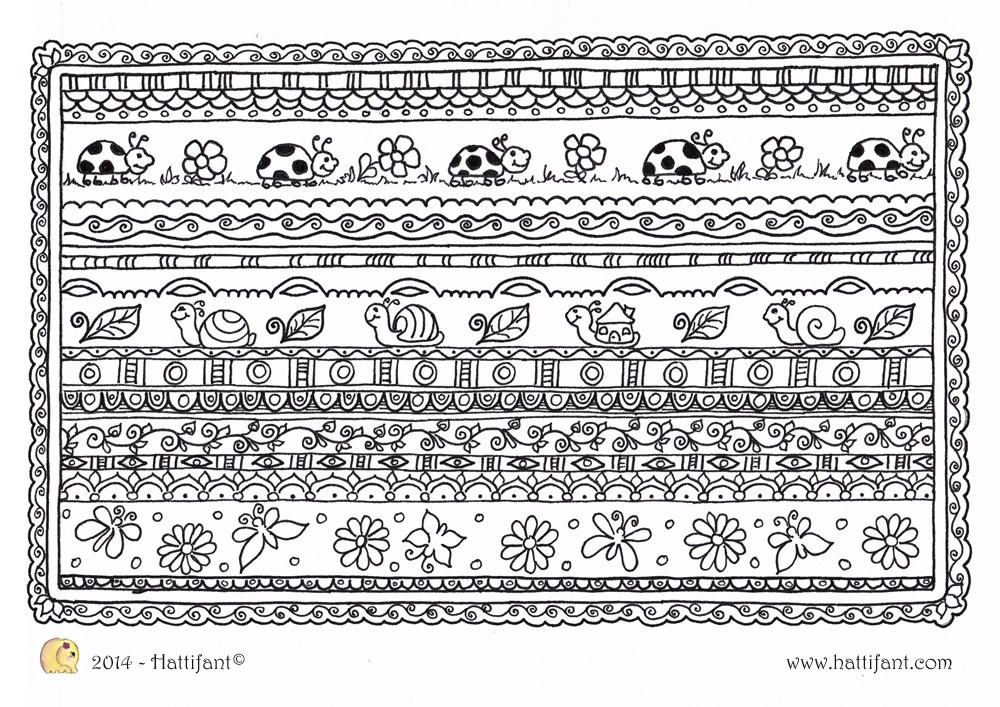 Hattifant's Animal Zentangle