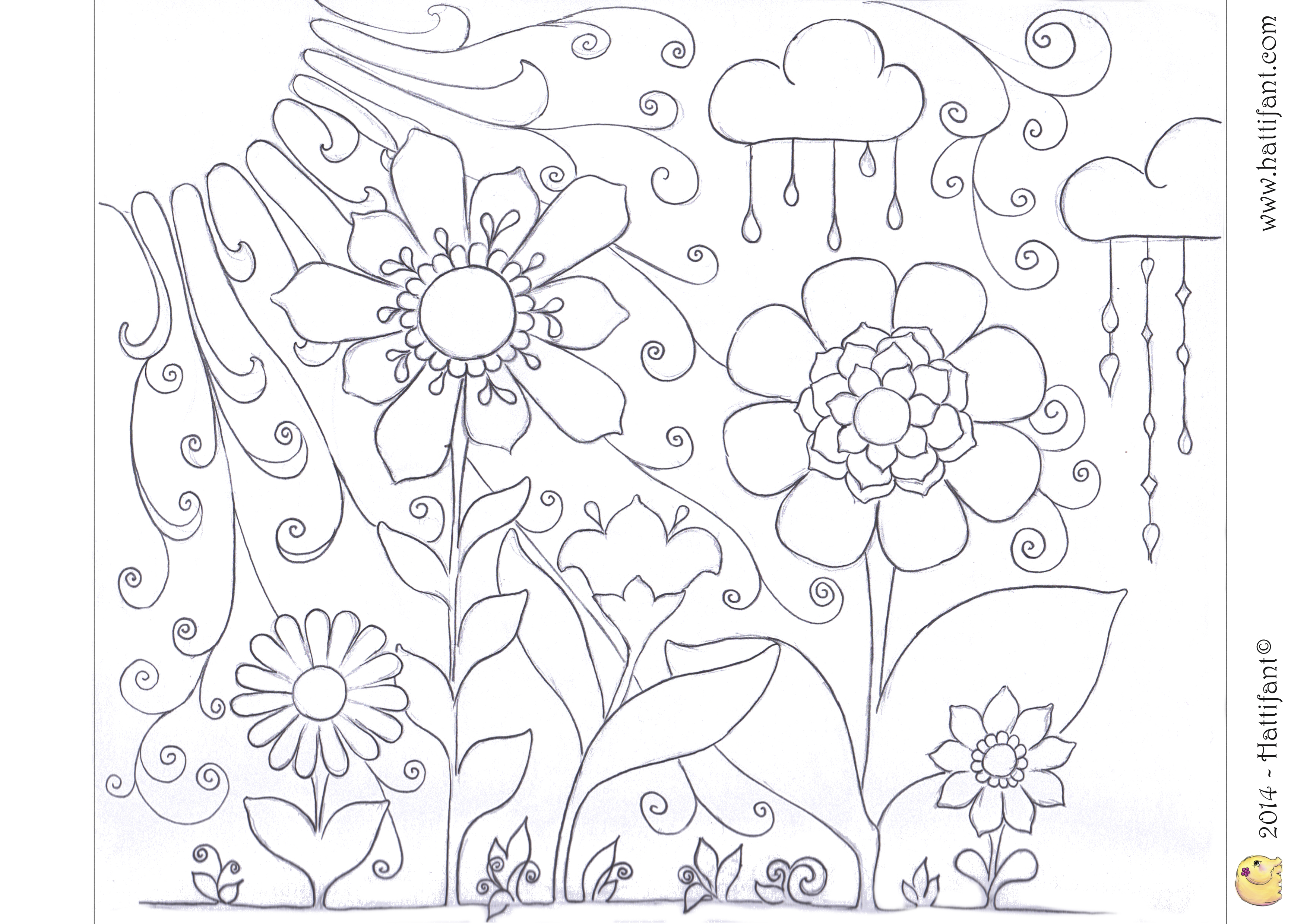 colourthespring - Spring Pictures To Colour