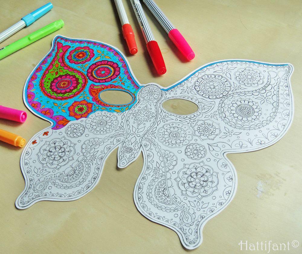 Hattifant's Paisley Butterfly Mask