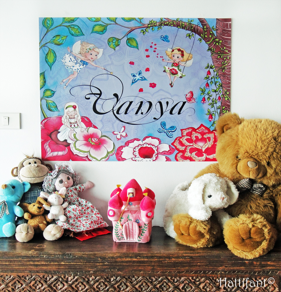Hattifant's Name Decor Nature and Fairy Theme