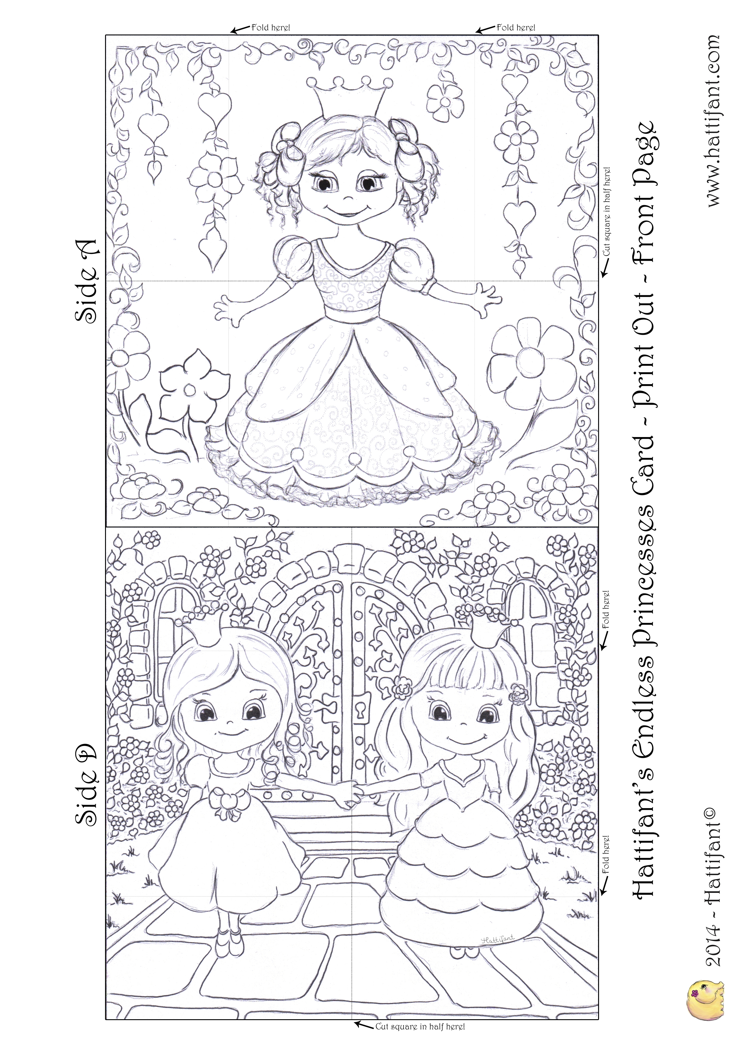 Hattifants Endless Princesses Card  Hattifant