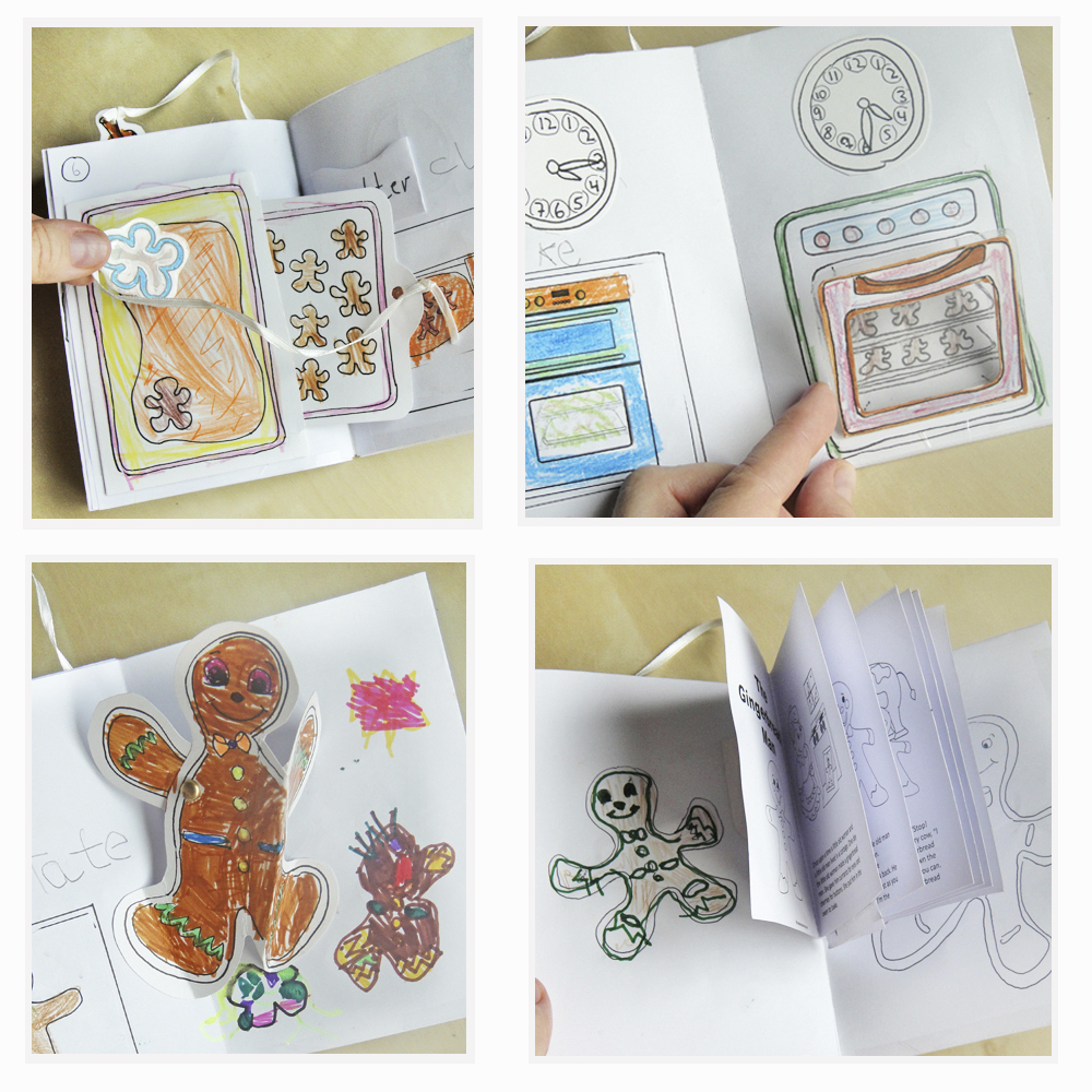 Hattifant's Gingerbread Man Pop Up Book Ensemble
