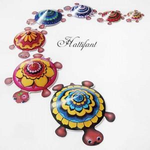 Hattifant Mandala Turtle Family colour color as a kidscraft