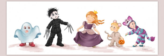 Halloween, halloween illustration, costume, dress up