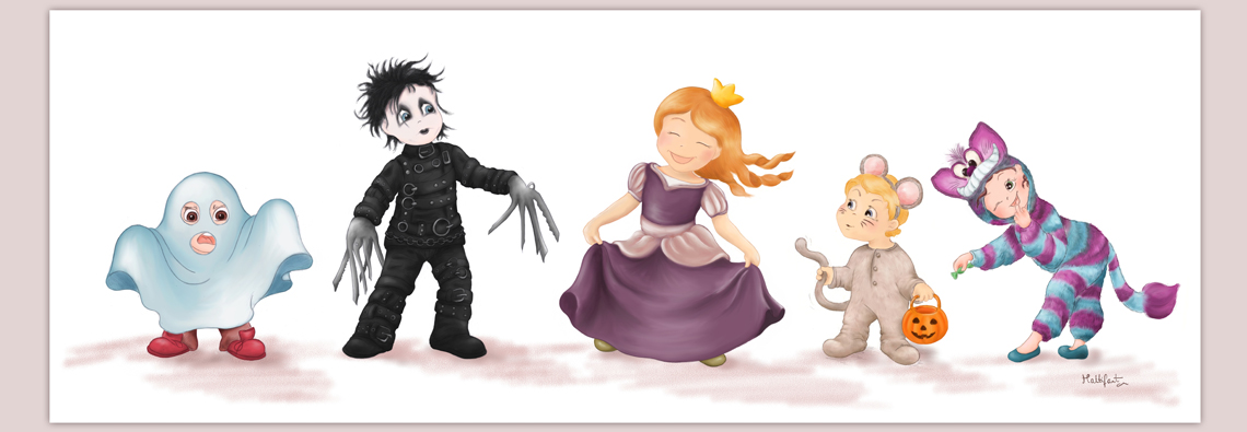 Halloween, halloween illustration, costume, dress up