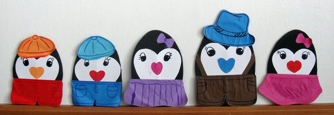 Valentine Heart Penguin Family