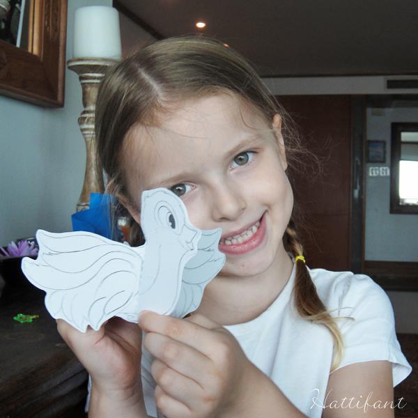 Paper bird Tim