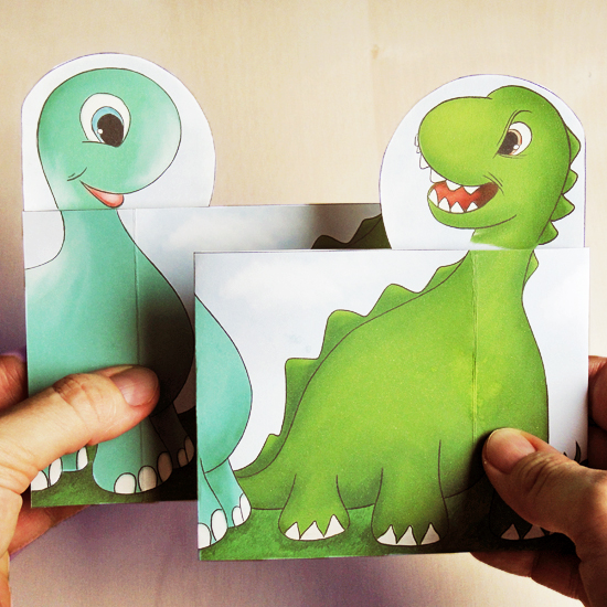 Hattifant's Peekaboo Pop Up Dino Family