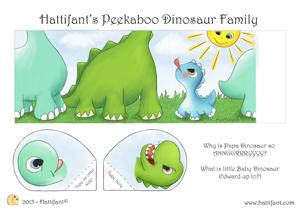 PikaBoo DinosaurFamily COL A4