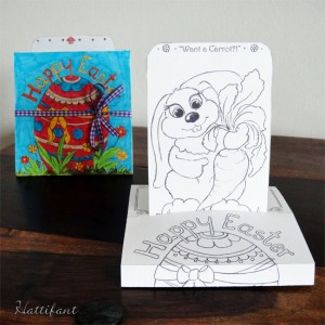 Hattifant's Easter Bunny Sliding Pop Up Card