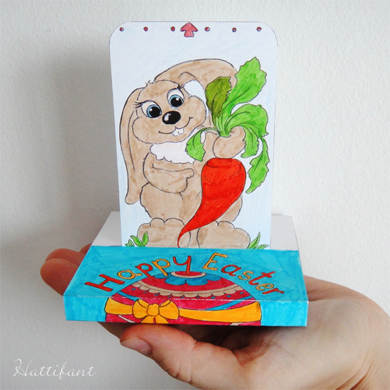 Hattifant's Easter Sliding Pop Up Card