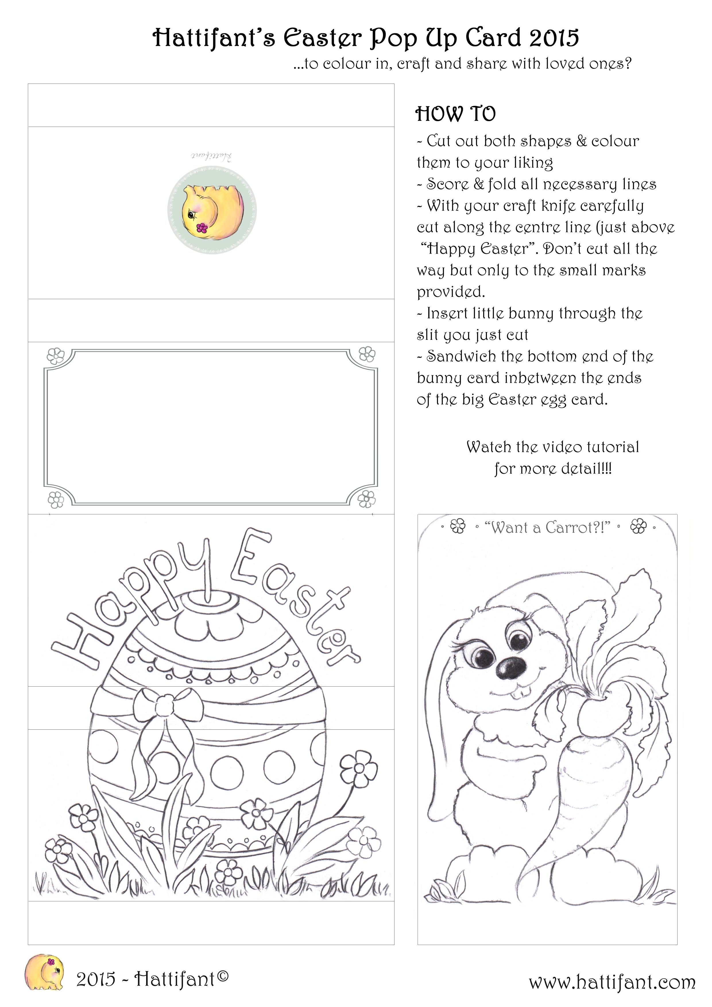 hattifant u0027s easter bunny sliding pop up card hattifant