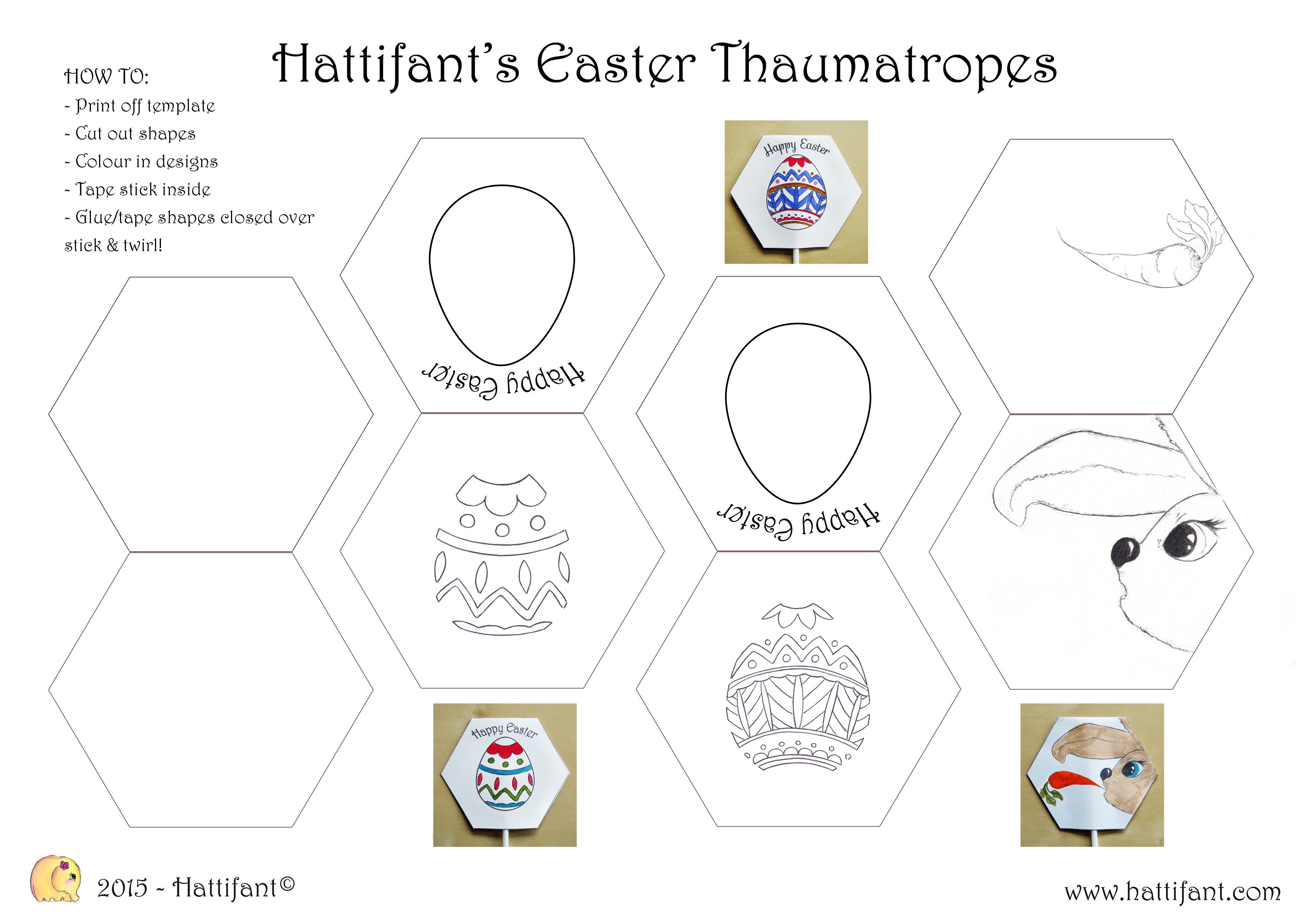 Hattifant S Easter Thaumatropes Hattifant