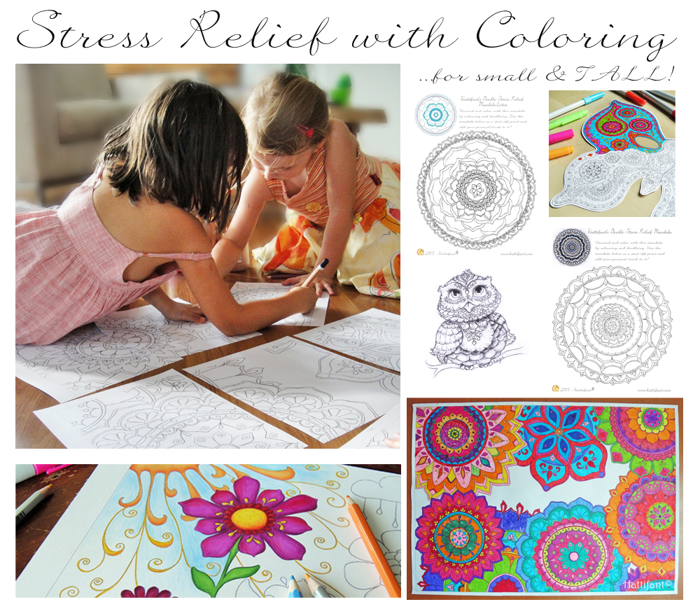 Stress relief coloring pages for kids - Hattifant S Coloring Pages