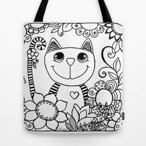 Hattifant's Stripy Animal Tote Bags