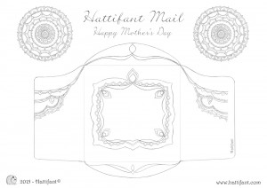 Hattifant's Flower Mandala Mothers Day Card Envelope Printout