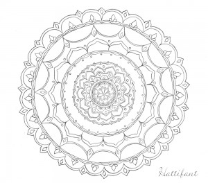 hattifants stress relief mandala doodle - Dream Catcher Coloring Pages