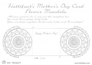 Hattifant's Flower Mandala Mother's Day Card Printout