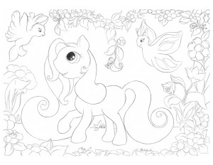 Hattifant's GIANT Pony Love Poster Colouring Fun