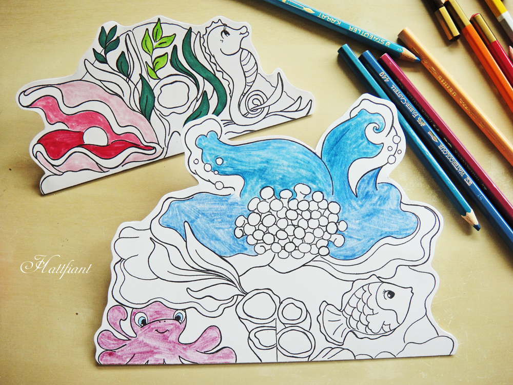 Coloring with Hattifant - Magic Mermaid World