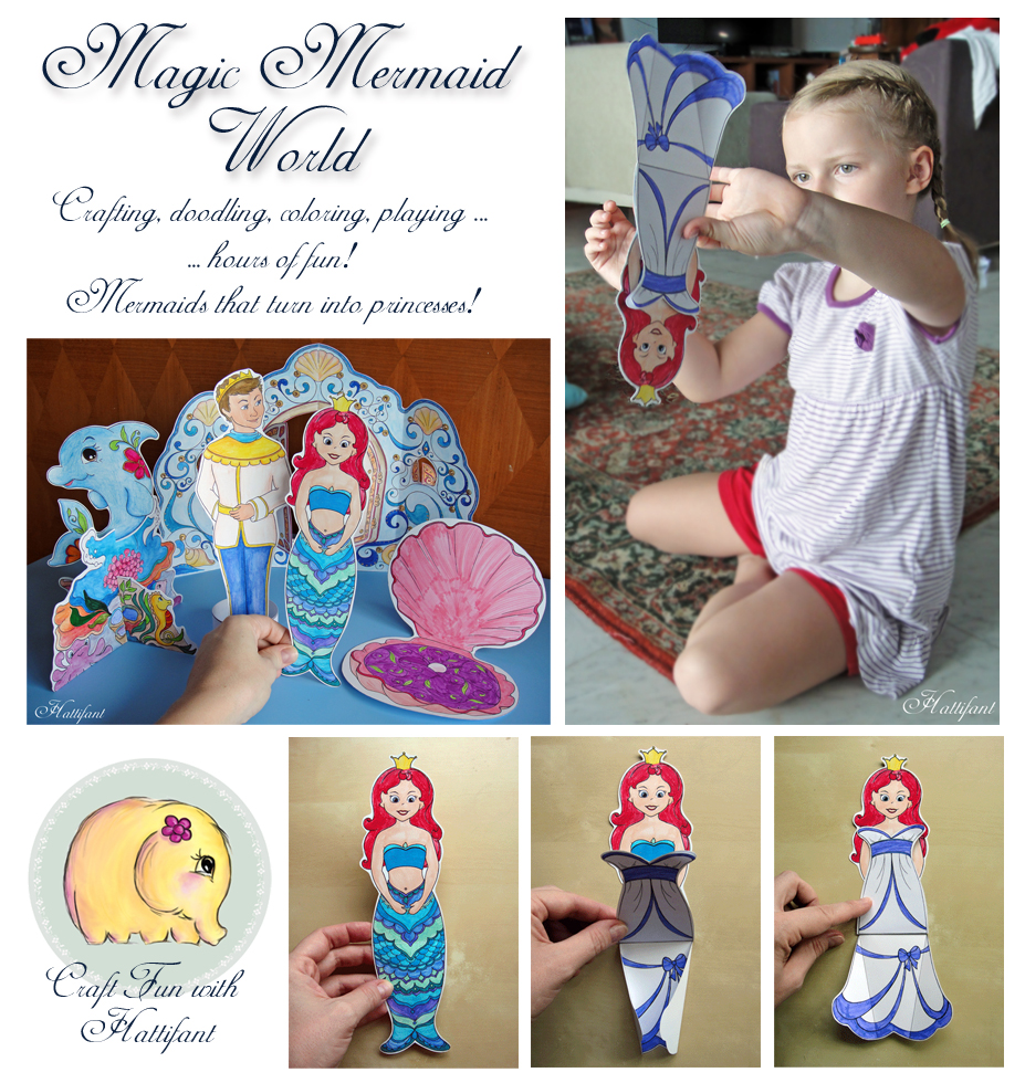 Hattifant'S Magic Mermaid World Paper Toy Set
