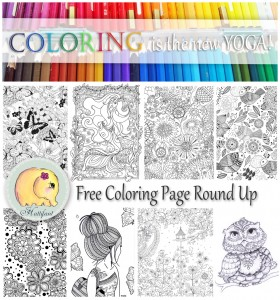 Hattifant's Free Grown Up Coloring Page Round Up