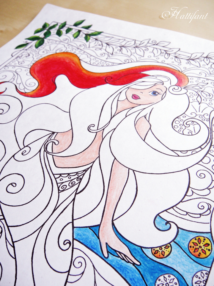 Hattifant's Mermaid Galore Grown Up Coloring