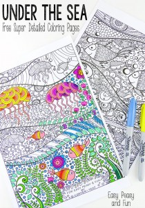 Under The Sea Coloring Pages by RahemaShah