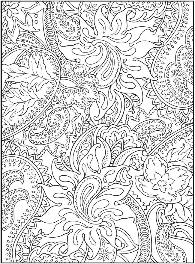 coloring page samples by dover publications - Adults Coloring Books