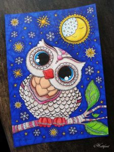 Hattifant's Baby Owl Coloring Page Free Download