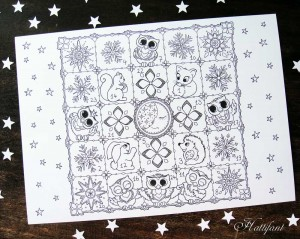 Hattifants Advent Calendar Woodland Cuties to Color