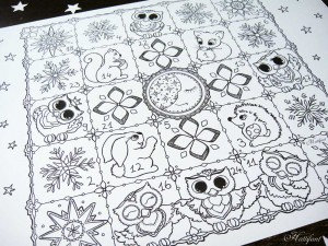 Hattifants Advent Calendar to Color Woodland Cuties