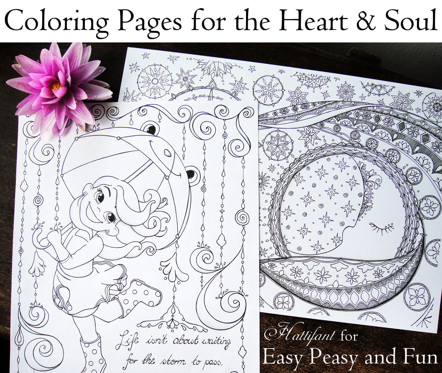 Hattifant's Coloring Pages for Heart and Soul