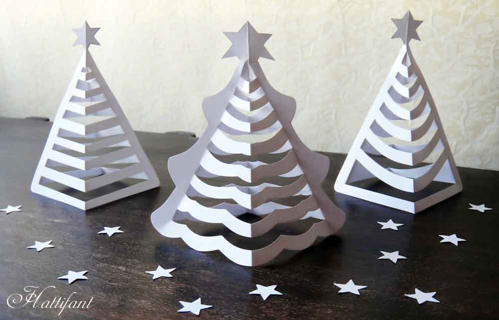 hattifants 3d paper christmas trees - How To Make A Paper Christmas Tree