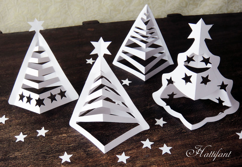 Hattifant's 3D Paper Christmas Trees - Hattifant