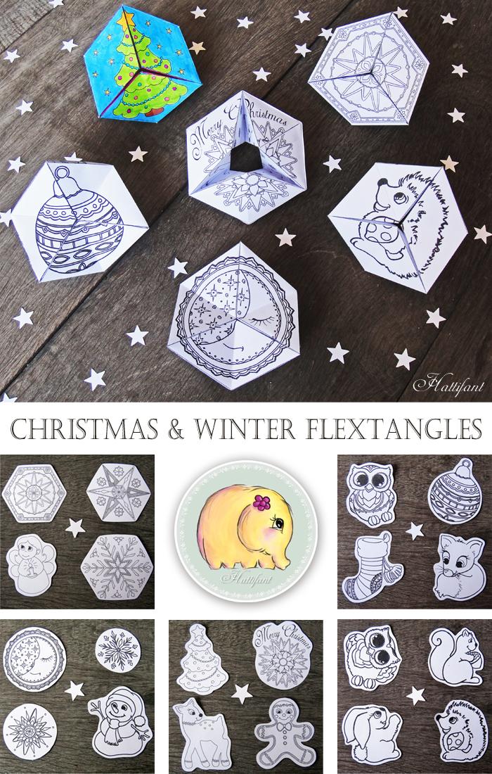 Hattifant - Christmas Winter Kaleidocycle Flextangle