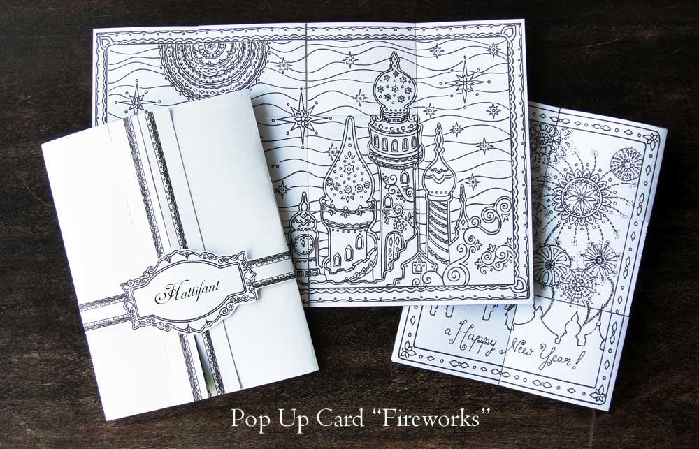 Hattifant - Pop Up Card Fireworks