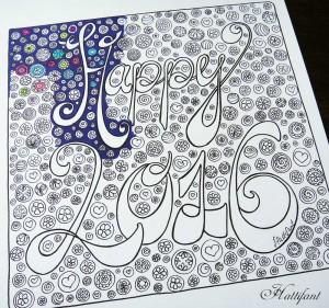 Hattifant Happy 2016 Coloring Page
