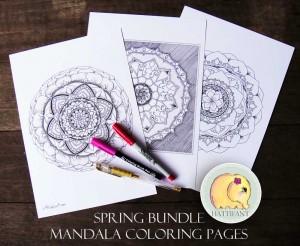 Hattifant Mandala Collection 3 Mandala Coloring Pages
