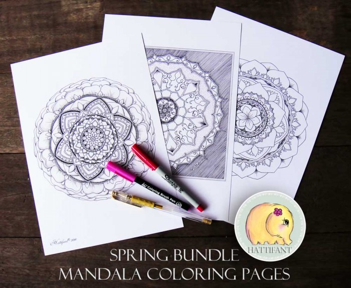 Hattifant Mandala Collection 3 Mandala Coloring Pages