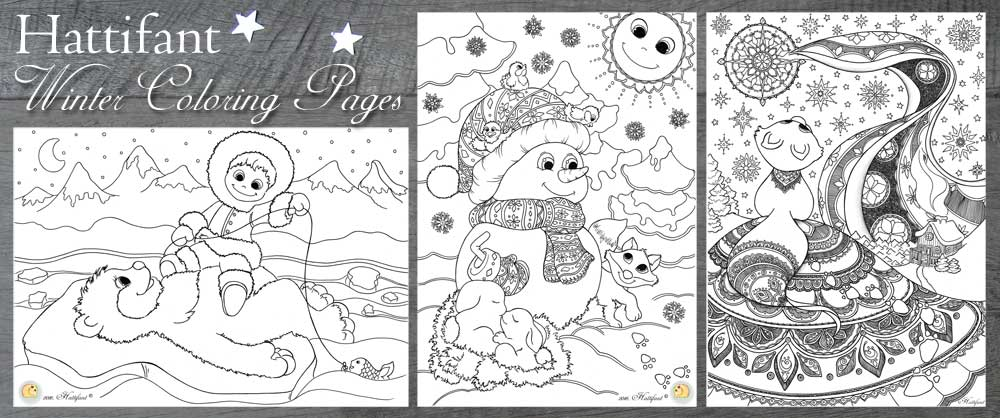 Winter Coloring Pages - Hattifant