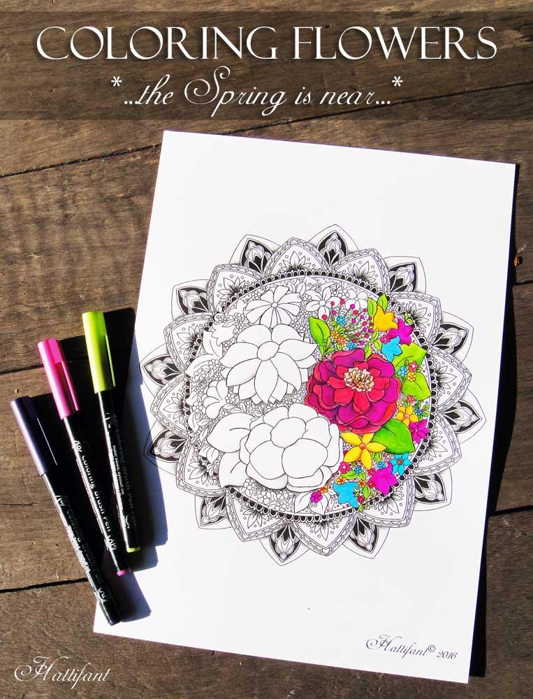 Hattifant - Coloring Flowers