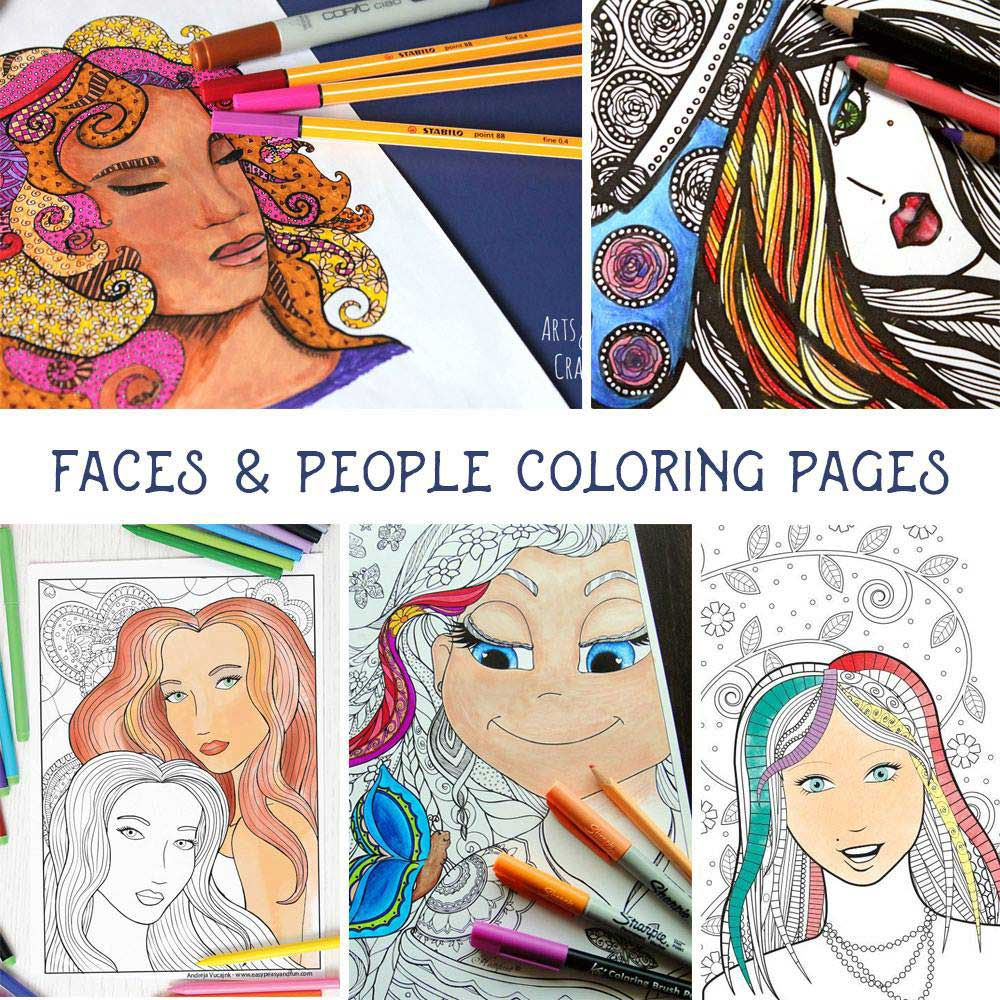 Hattifant coloring tribe blog hop coloring page people faces