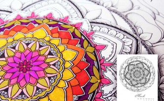 Hattifant's Mandalendar March 2016 Mandala Coloring Page