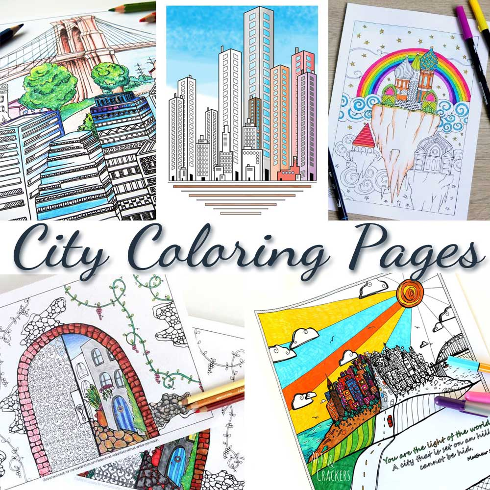 Free printable coloring pages for adults city - Hattifant City Coloring Page For Adults Together With Coloring Tribe