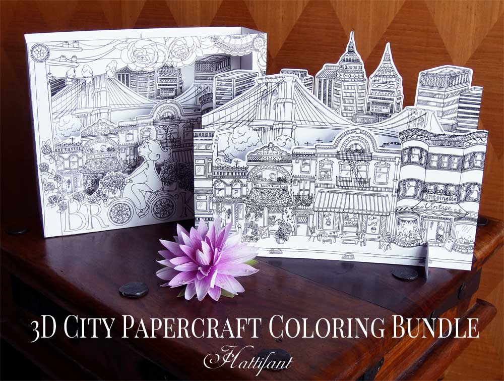 Hattifant's 3D-City to Color inspired by Brooklyn